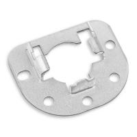 Anschraublager Ø 40 mm aus Metall | verzinkt mit Sicherungskrallen