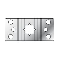 Antriebslager 16 mm Stern-Loch Teilkreis 60 mm | gekröpft | für Rademacher RTBL Antriebe