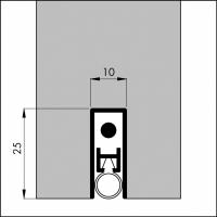 Automatische Türboden-Dichtung TB029 | Länge 830 mm | aluminium pressblank