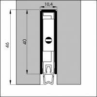 Automatische Türboden-Dichtung TB034 | Länge 830 mm | aluminium pressblank