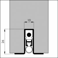Automatische Türboden-Dichtung TB043 | Länge 930 mm | aluminium pressblank