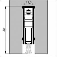 Automatische Türboden-Dichtung TB054 | Länge 830 mm | aluminium pressblank