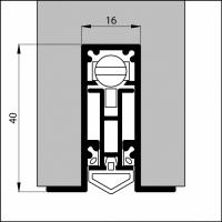 Automatische Türboden-Dichtung TB059 | Länge 630 mm | aluminium pressblank