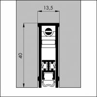Automatische Türboden-Dichtung TB069 | Länge 930 mm | aluminium pressblank