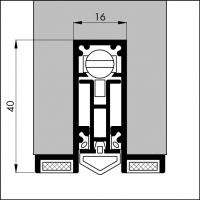 Automatische Türboden-Dichtung TB073 | Länge 630 mm | aluminium pressblank
