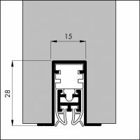 Automatische Türboden-Dichtung TB083 | Länge 1085 mm | aluminium pressblank