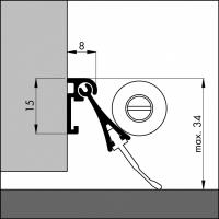 Automatische Türboden-Dichtung TB094 | Länge 930 mm | aluminium pressblank