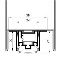 Automatische Türboden-Dichtung TB103 | Länge 530 mm | aluminium pressblank