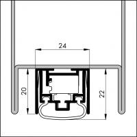 Automatische Türboden-Dichtung TB110 | Länge 530 mm | aluminium pressblank