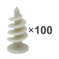 Dämmstoffdübel | Montagedübel zur Befestigung von Noppenbahnen und Drainagebahnen | 100 Stück | inkl. Bit