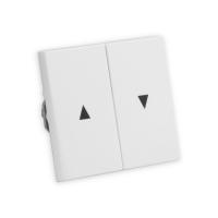 Doppel Wippe mit Pfeilsymbol für Jalousie-Wippschalter Gira System 55 | 2661-UW | ultraweiß