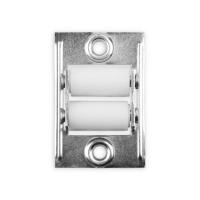 Doppelleitrolle eckig | für 23 mm Gurtbreite | 47 mm Lochabstand