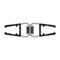 Duschdichtung DD006 180 Grad | transparent | Länge 2010mm