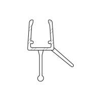 Duschdichtung DD014 für Rundduschen | transparent | Radius 500mm | Länge 1250mm