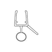 Duschdichtung DD015 für Rundduschen | transparent | Radius 500mm | Länge 1250mm