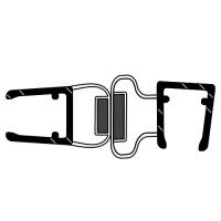 Duschdichtung DD035 90° | transparent | mit Magnet | Länge 2010mm