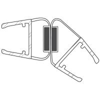 Duschdichtung DD043-135 Grad | transparent | Länge 2200mm