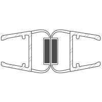 Duschdichtung DD043-180 Grad | transparent | Länge 2200mm