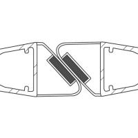 Duschdichtung DD044-180 Grad | transparent | Länge 2200mm