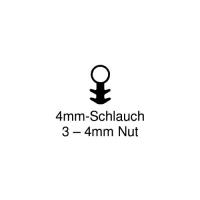 Einfräs-Dichtung EF001 | schwarz | 4mm Schlauch | 5 lfm
