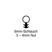 Einfräs-Dichtung EF002 | weiß | 6mm Schlauch | 5 lfm