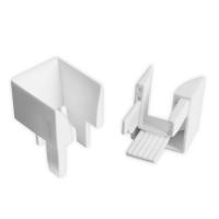 Einlauftrichter | für Kunststoff Rolladen-Führungsschienen 900 & 933 | weiß