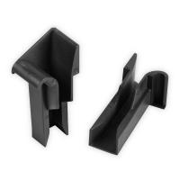 Einlauftrichter für Mini Aluminium-Führungsschiene | 20 mm | schwarz