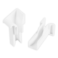 Einlauftrichter für Mini Aluminium-Führungsschiene | 20 mm | weiß