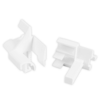 Einlauftrichter für Mini-Führungsschiene | für Blendenkappen an Vorbaurolladen | 11 mm | weiß