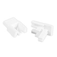 Einlauftrichter für Mini-Führungsschiene | für kleine Blendenkappen an Vorbaurolladen | 10 mm | weiß