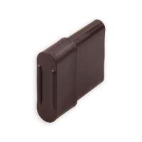 Endstabgleiter - Gleiter Endstab | 20 x 14 mm | braun