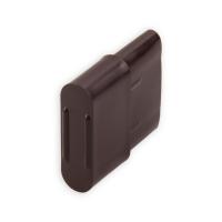 Endstabgleiter - Gleiter Endstab | 25 x 14 mm | braun