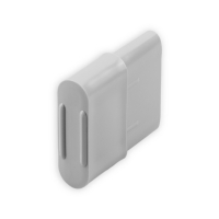 Endstabgleiter - Gleiter Endstab | 25 x 14 mm | grau