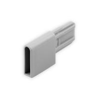 Endstabgleiter - Gleiter Endstab   28 x 28,5 x 9 mm   grau