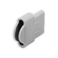 Endstabgleiter - Gleiter Endstab | 30 x 14 mm | grau