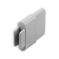 Endstabgleiter - Gleiter Endstab | 35 x 14 mm | grau