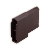 Endstabgleiter - Gleiter Endstab |28 x 12 mm | braun