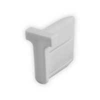 Endstabgleiter - T-Gleiter Endstab   30 x 30,3mm   grau