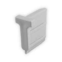 Endstabgleiter - T-Gleiter Endstab   30 x 35mm   grau