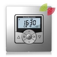 Funk-Zeitschaltuhr Troll Comfort 5665-AL DuoFern   mit Rahmen   Aluminium Optik
