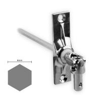 Gelenklager 45° - G004 | Grundplatte 22x85 mm | Kurbelzapfen 9,9 mm | 6 mm Sechskant