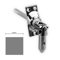 Gelenklager 45° - G008 | Grundplatte 22x52 mm | Kurbelzapfen 11,9 mm | 6 mm Vierkant