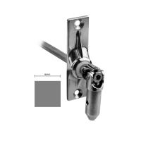Gelenklager 45° - G010 | Grundplatte 22x85 mm | Kurbelzapfen 13,9 mm | 6 mm Vierkant Ø 13,9 mm