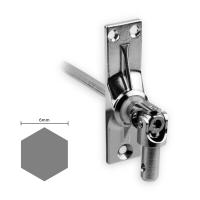 Gelenklager 45° - G012 | Grundplatte 22x85 mm | Kurbelzapfen 9,9 mm | 6 mm Sechskant