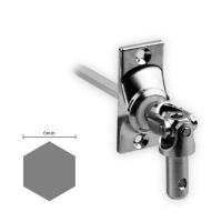 Gelenklager 45° - G015 | Grundplatte 22x52 mm | Kurbelzapfen 9,9 mm | 6 mm Sechskant Ø 9,9 mm