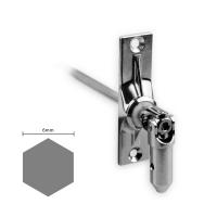 Gelenklager 45° - G016 | Grundplatte 22x85 mm | Kurbelzapfen 13,9 mm | 6 mm Sechskant