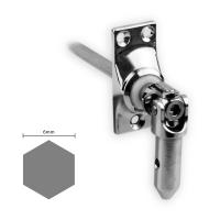 Gelenklager 45° - G017 | Grundplatte 22x52 mm | Kurbelzapfen 11,9 mm | 6 mm Sechskant