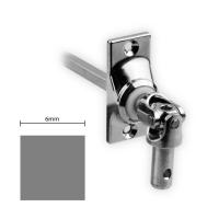 Gelenklager 45° - G019 | Grundplatte 22x52 mm | Kurbelzapfen 9,9 mm | 6 mm Vierkant