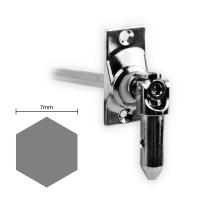 Gelenklager 45° - G020 | Grundplatte 22x52 mm | Kurbelzapfen 11,9 mm | 7 mm Sechskant
