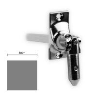 Gelenklager 45° - G021 | Grundplatte 22x52 mm | Kurbelzapfen 11,9 mm | 8 mm Vierkant